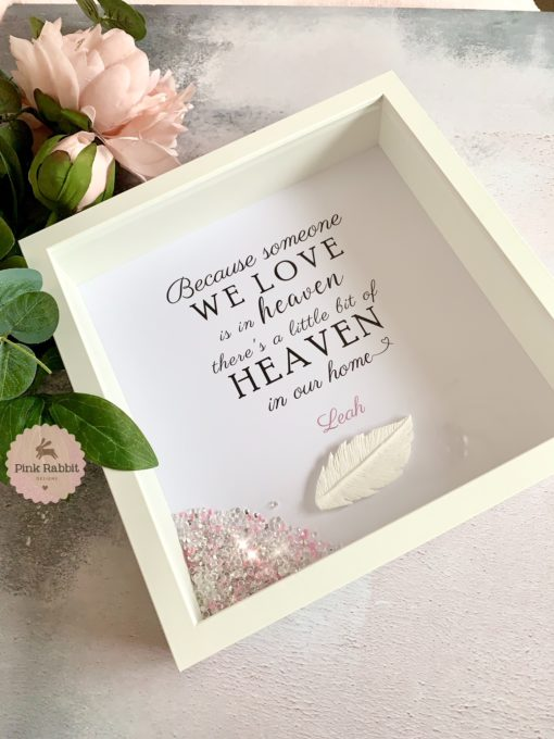 heaven frame with feather